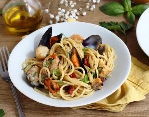 Spaghettis aux fruits de mer et sauce à l'Anchoïade