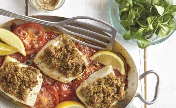cabillaud en croute d anchoiade