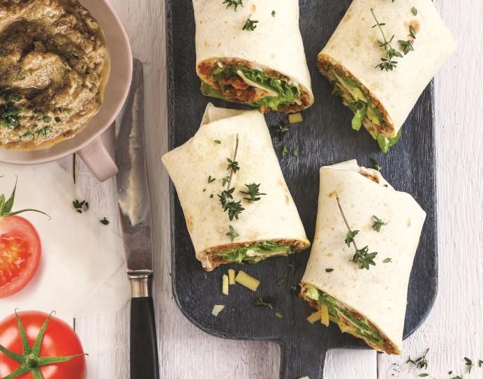 recette de wraps de légumes du soleil